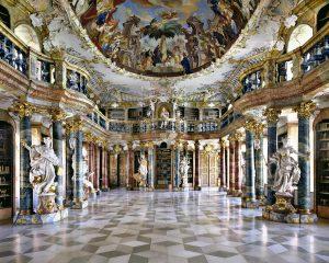 Abbey Library in Wiblingen, Germany