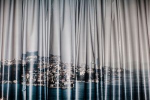 Untitled (Istanbul cityscape backdrop, Film/TV production studios, Balat, Istanbul, 2013)