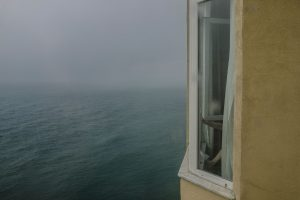 Untitled (Rear view of a hotel window on the Black Sea, 2015)