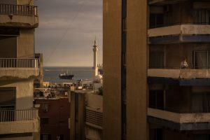 Untitled (Woman on a Balcony, Tripoli, Lebanon, 2016)