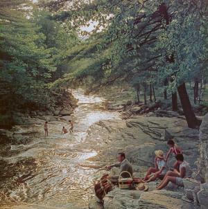 Slim Aarons - Campbell Falls Picnic, 1959