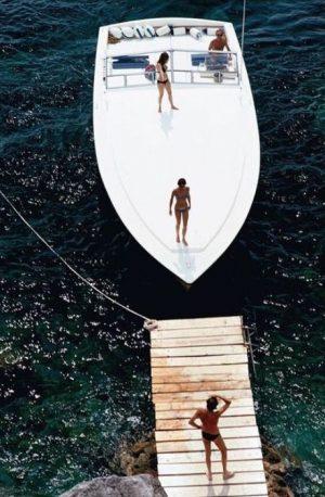 Speedboat landing - slim aarons